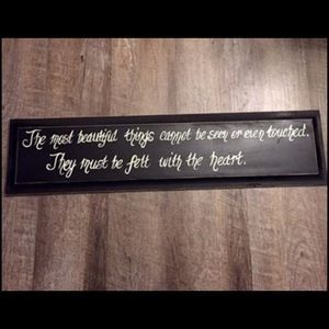 Black Wooden Quote Wall Decor Sign Altar'd State
